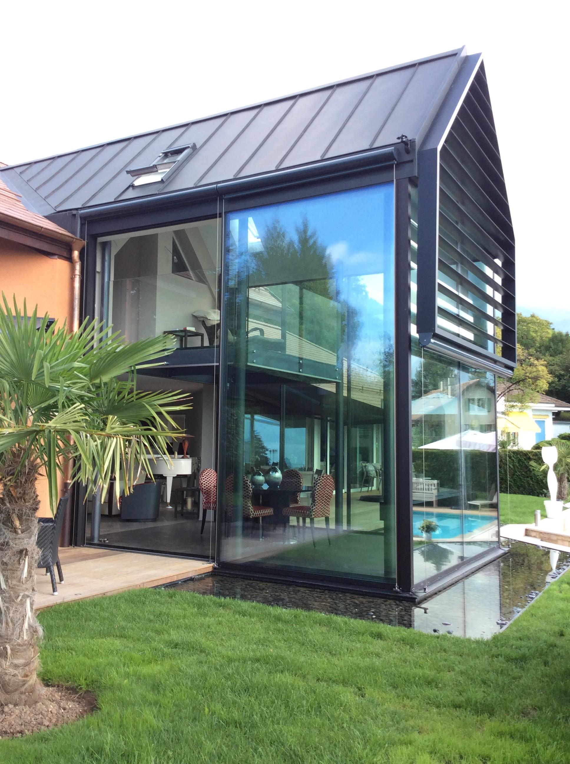 Veranda Metal Et Verre steiner-ps-architecture-montreux-villa veranda vue lac verre